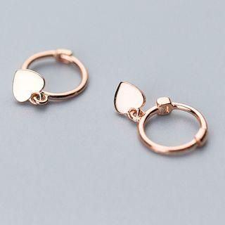 A'ROCH - Heart Drop Mini Hoop Earrings