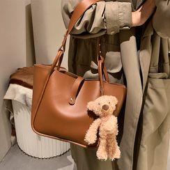Skyglow - 套裝: 仿皮手提袋 + 小袋