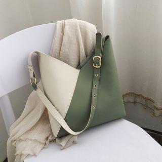 优尚良品 - 双色仿皮手提袋