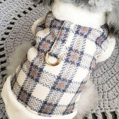 Mily Pets - Plaid Fleece-lined Pet Top