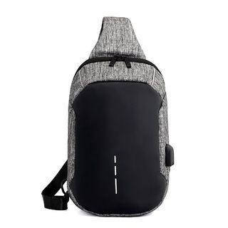 Golden Kelly - Sling Bag with USB Port