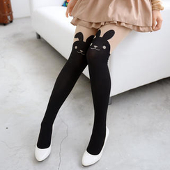 59 Seconds - Rabbit Print Two-Tone Tights