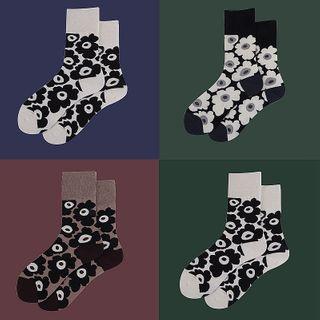 ASAIDA - Floral Print Socks