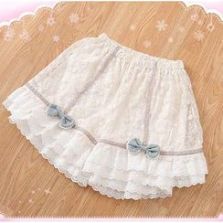 Nectarine - Bow-Accent Lace Shorts