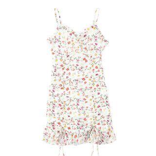 JIN STUDIOS - Spaghetti Strap Floral Print Dress