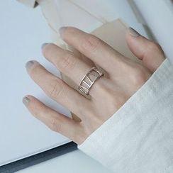 Assisi - 925 純銀羅馬數字開口戒指