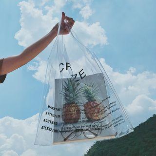 School Time - Lettering PVC Tote Bag