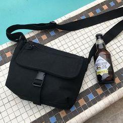 Ikebag - Canvas Snap-Buckle Crossbody Bag