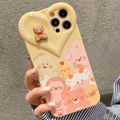 TinyGal - Animal Heart Phone Case - iPhone 12 Pro Max / 12 Pro / 12 / 12 mini / 11 Pro Max / 11 Pro / 11 / SE / XS Max / XS / XR / X / SE 2 / 8 / 8 Plus / 7 / 7 Plus