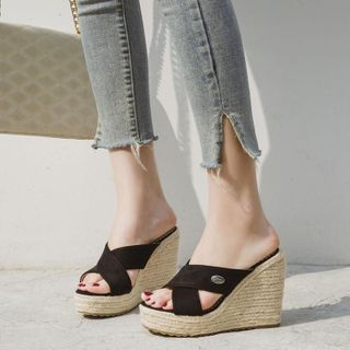 Freesia - Platform Wedge Slide Sandals