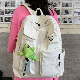 HOVERUP - Plain Multi-Section Backpack / Bag Charm