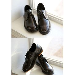 PLAYS(プレイズ) - Faux-Leather Derby Shoes