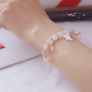 Green Isle - Faux Crystal Bead Bracelet