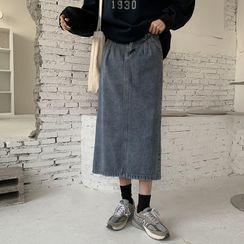 Moon City(ムーンシティ) - Denim Midi Pencil Skirt