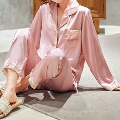Sweetzer - Pajama Set: Lettering Top + Pants