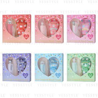 Sanrio - Heart Lip Cream & Hand Cream Gift Set - 6 Types