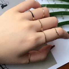 JAMIEL - 六件套: 简约戒指
