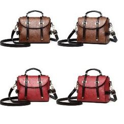 BeiBaoBao - Faux-Leather Belted Satchel