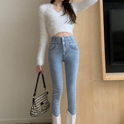 Maliske - 高腰窄身牛仔裤