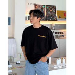 GERIO - Flower Print Back T-Shirt