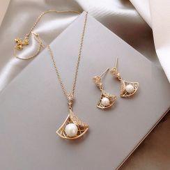 DREN - 925純銀仿珍珠耳墜 / 項鏈