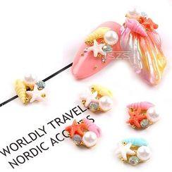 Monoe - Faux Pearl Starfish Nail Art Decoration