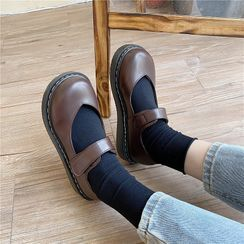 CYOS - Round-Toe Platform Mary Jane Shoes