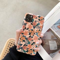 Huella - Relief-Flower Phone Case For iPhone 6 / 6S / 6 Plus / 6S Plus / 7 / 7 Plus / 8 / 8 Plus / X / XS / XR / XS Max / 11 / 11 Pro / 11 Pro Max