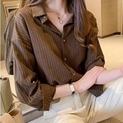 Hanji - Long-Sleeve Striped Shirt