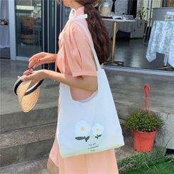 Milha - Flower Print Canvas Crossbody Bag