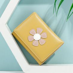 Taomicmic - Flower Accent Trifold Wallet
