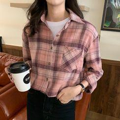 Fabricino(ファブリチーノ) - Long-Sleeve Plaid Shirt