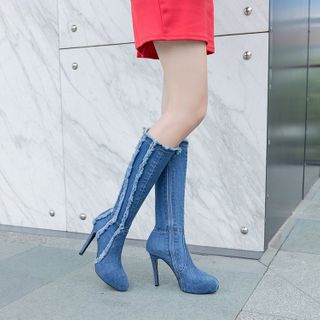 Artiz(アーティッツ) - High-Heel Denim Tall Boots