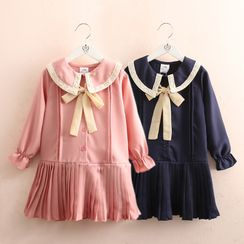 Seashells Kids - Kids Long-Sleeve Collar A-Line Dress