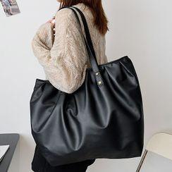 Diamante - Faux Leather Tote Bag