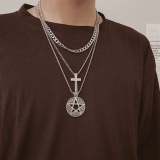 InShop Watches - Alloy Cross / Star / Necklace / Set