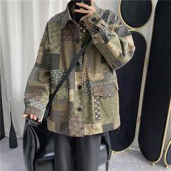 Skeggi - Patterned Buttoned Jacket