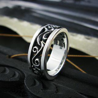 Sterlingworth - Openwork Sterling Silver Band Ring