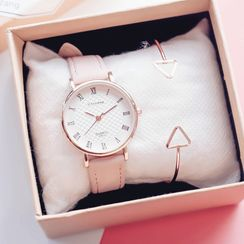 Teep - Faux Leather Strap Watch