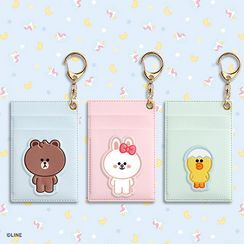 BABOSARANG - 'LINE FRIENDS' Illustration Keyring Card Holder