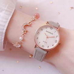 Moska - 套裝: 帶式手錶 + 水鑽手鏈