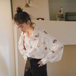 Lady Jean - 天使印花衬衫
