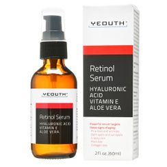 YEOUTH - 2.5% Retinol Serum with Hyaluronic Acid, Vitamin E, Aloe Vera