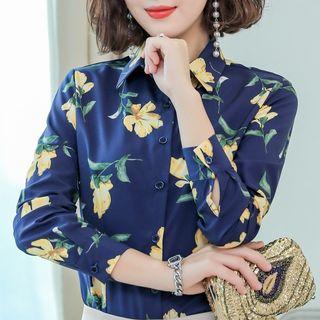 In the Mood - Floral Print Chiffon Shirt