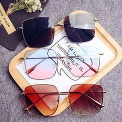 Aisyi - Square Metal Frame Sunglasses