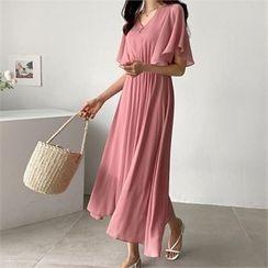 PIPPIN - Bell-Sleeve Chiffon Dress