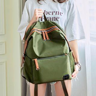 Bag Hub - 配色邊牛津背包