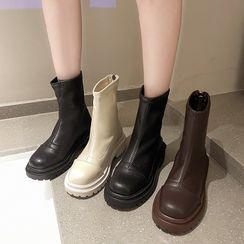 Vindler - Plain Platform Short Boots
