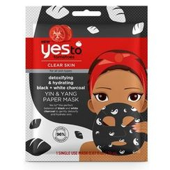 Yes To - Yes To Tomatoes: Yin & Yang Detoxifying & Hydrating Black + White Charcoal Paper Mask (Single Use)