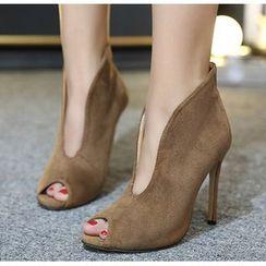 Niuna - 露趾高跟及踝靴